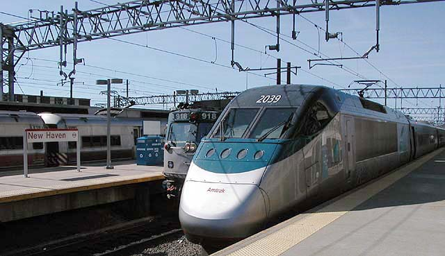 Acela at  New Haven, Connecticut