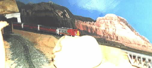 The Rodgers Grade with Santa-Fe Streamliner climbing