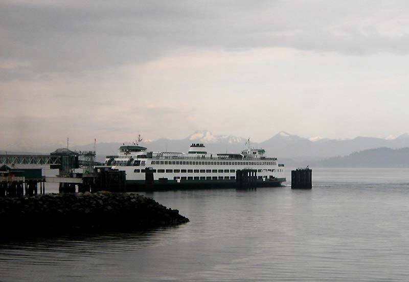 At Edmonds, a Washington State Ferry